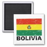 Bolivia Vintage Flag 2 Inch Square Magnet