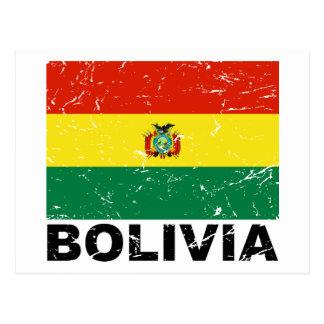 Bolivia Vintage Flag Postcard