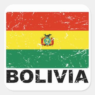 Bolivia Vintage Flag Square Sticker