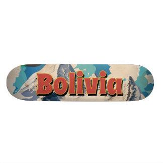 Bolivia Vintage Travel Poster Skateboard Deck