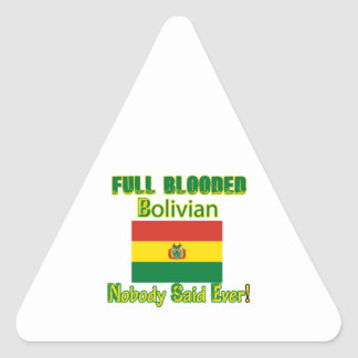 Bolivian citizen design triangle sticker