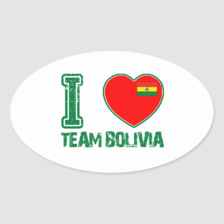 BOLIVIAN designs Oval Sticker