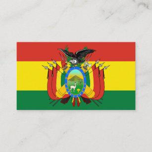 Bolivian Flag & Coat of Arms, Flag of Bolivia Business Card