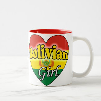 Bolivian Girl Two-Tone Coffee Mug