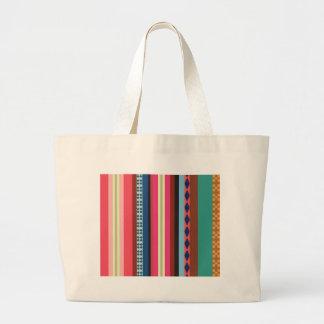 Bolivian pattern large tote bag