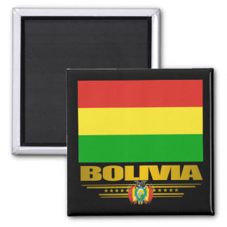 """Bolivian Pride"" Refrigerator Magnet"