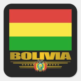 """""""Bolivian Pride"""" Square Sticker"""