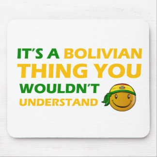 bolivian smiley design mouse pad