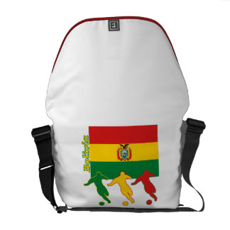 Bolivian Soccer Players Courier Bags