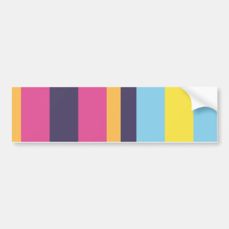 Bolivian stripes bumper sticker