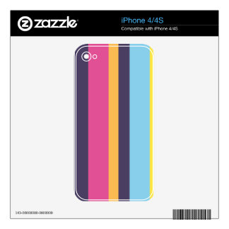 Bolivian stripes decal for iPhone 4