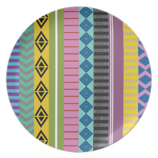 Bolivian stripes dinner plate