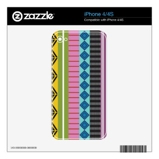 Bolivian stripes iPhone 4S skin