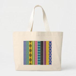 Bolivian stripes large tote bag