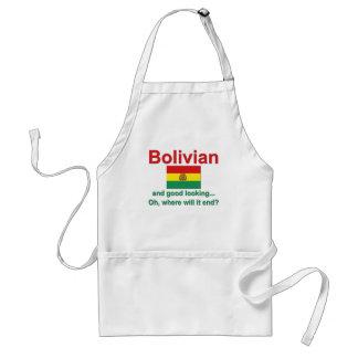 Boliviano apuesto delantal