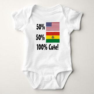 Boliviano del americano el 50% del 50% el 100% polera