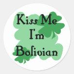 boliviano etiquetas redondas