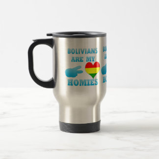 Bolivians are my Homies 15 Oz Stainless Steel Travel Mug