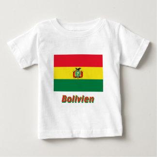 Bolivien Flagge mit Namen Baby T-Shirt