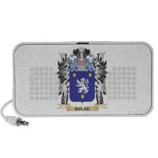 Bolke Coat of Arms - Family Crest Travelling Speakers