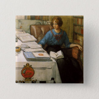 Bolla in the Library Pinback Button