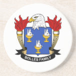 Bolles Family Crest Beverage Coaster