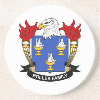 Bolles Family Crest Beverage Coasters
