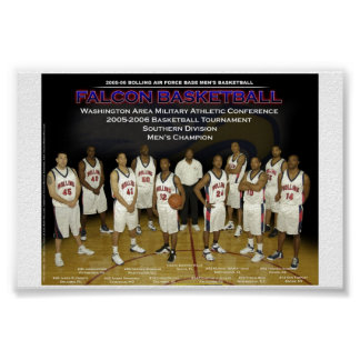 Bolling AFB Basketball Team Poster