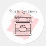 Bollo en el horno etiquetas redondas