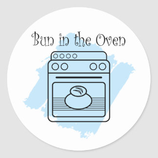 Bollo en el horno pegatina redonda