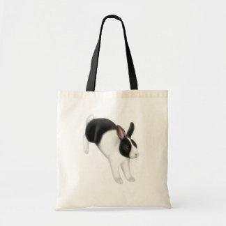 Bollo en la bolsa de asas del conejo del funcionam