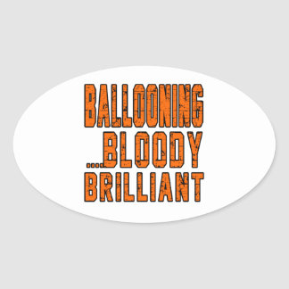 Bollooning.Bloody Brilliant Oval Sticker