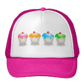 Bollos coloreados gorras