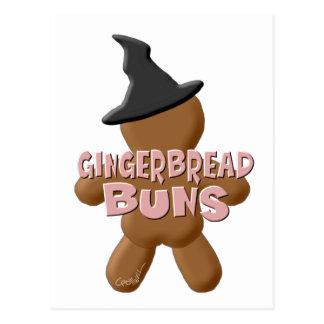 Bollos del pan de jengibre de Halloween Tarjetas Postales