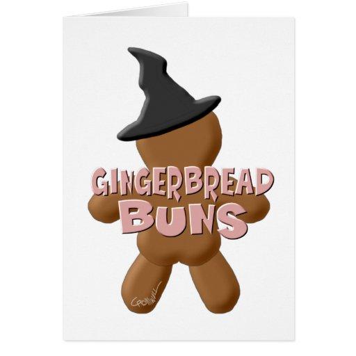 Bollos del pan de jengibre de Halloween Tarjetas