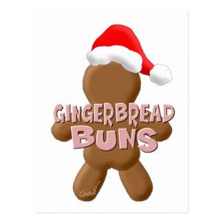 Bollos del pan de jengibre del navidad postales