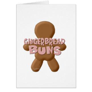 Bollos llanos del pan de jengibre felicitación