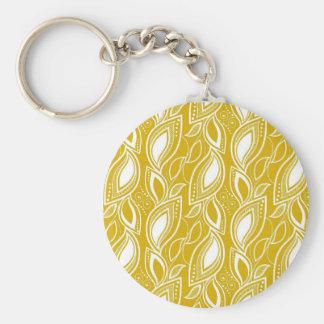 Bollywood amarillo llavero redondo tipo pin