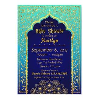 Bollywood Arabian Nights Baby Shower Card
