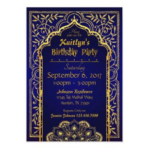 a88a60d46ce Bollywood Arabian Nights Birthday Invitation Card