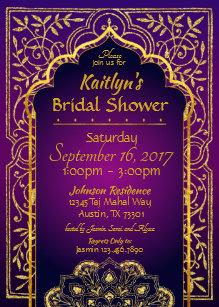 17a597abf736 Bollywood Arabian Nights Bridal Shower Invitation
