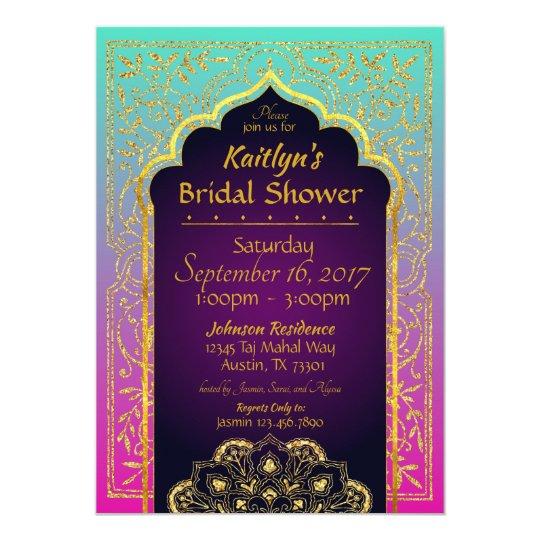 Bollywood Arabian Nights Bridal Shower Invitation Zazzle Com