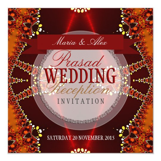 Bohemian Wedding Reception: Bollywood Bohemian Wedding Reception Invites