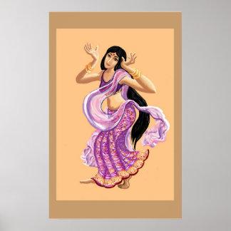 Bollywood dancer print