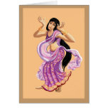 Bollywood dancing greeting card