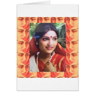 Bollywood diva actress Indian beauty cinema girls Card