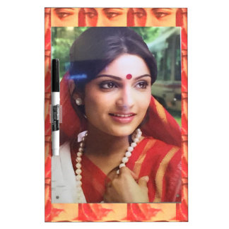 Bollywood diva actress Indian beauty cinema girls Dry Erase Board