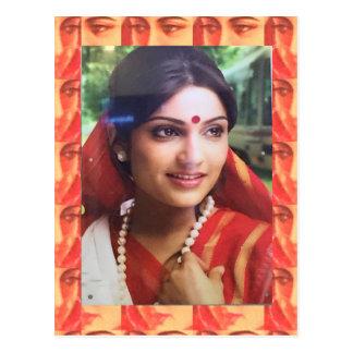 Bollywood diva actress Indian beauty cinema girls Postcard