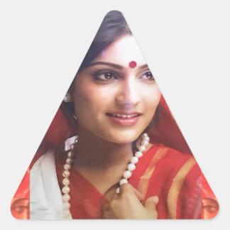 Bollywood diva actress Indian beauty cinema girls Triangle Sticker