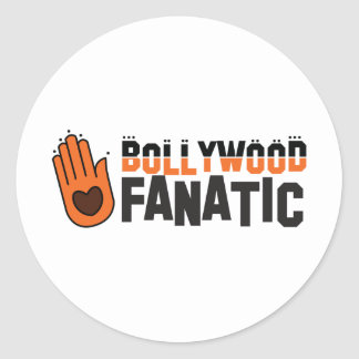 Bollywood fantatic classic round sticker